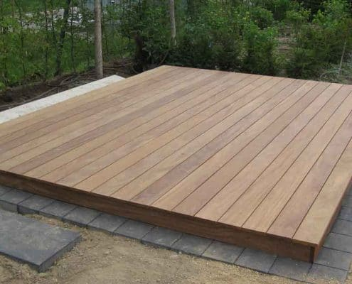 Montage Holz-Terrasse