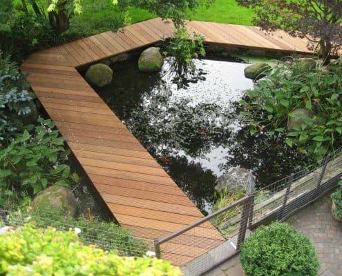Holz Gartenteich-Steg