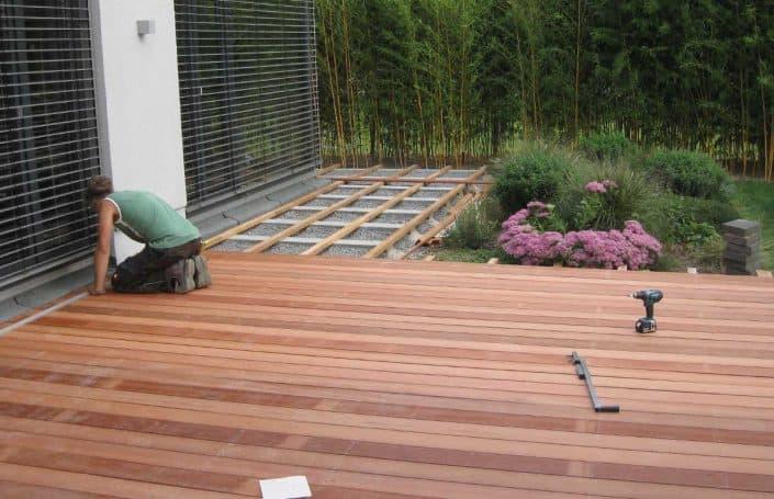 Montage Holz-Terrasse