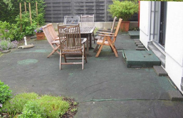 Terrasse vor Montage