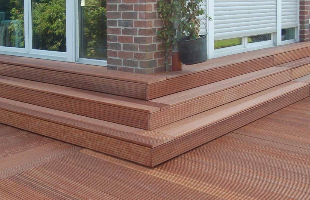 Holz-Stufen Reparatur nachher