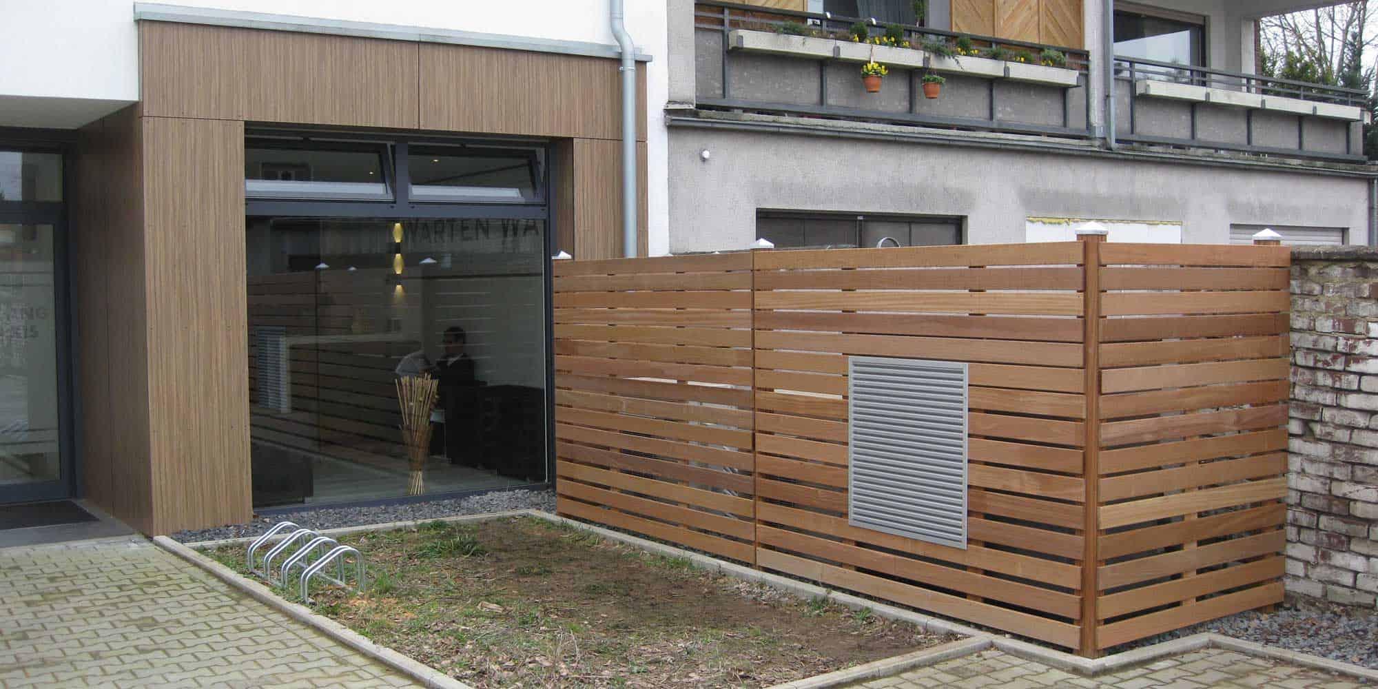 Holzverkleidung Klimaanlage