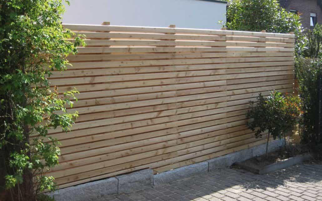 Rhombus sichtschutzzaun aus l rchenholz gartenholzprofi - Sichtschutzzaun modern ...