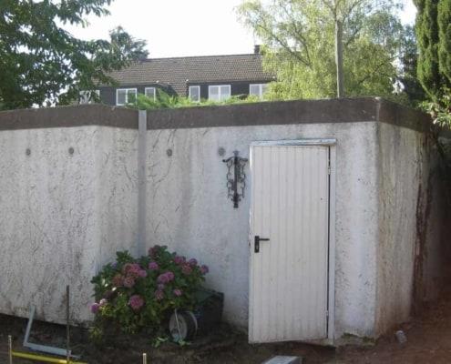 Garage vorher